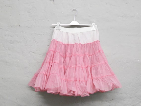 50s Skirt/Petticoat pink/Vintage Skirt/tulle Skirt/Rockabilly/Mini Skirt