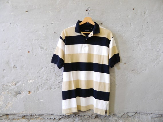 Polo shirt men's/men's shirt/90s polo shirt/polohemd/vintage shirt striped
