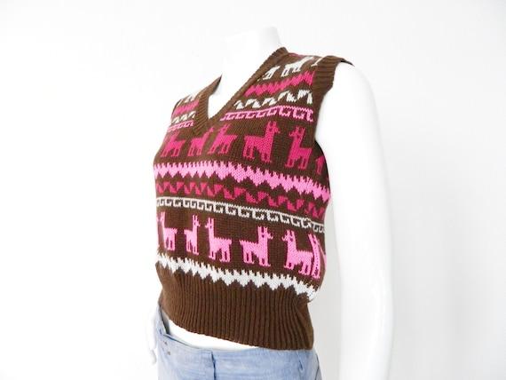 70s Knitted Vest/Vintage Vest/1970 's Vest/knitted vest/Vest Norway/Norwegian Vest Vintage