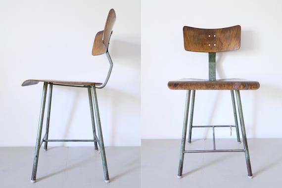 1930s industrial Chair/high industrial Chair/industrial Chair/Vintage Chair/1930 's chair/Factory chair/workshop chair