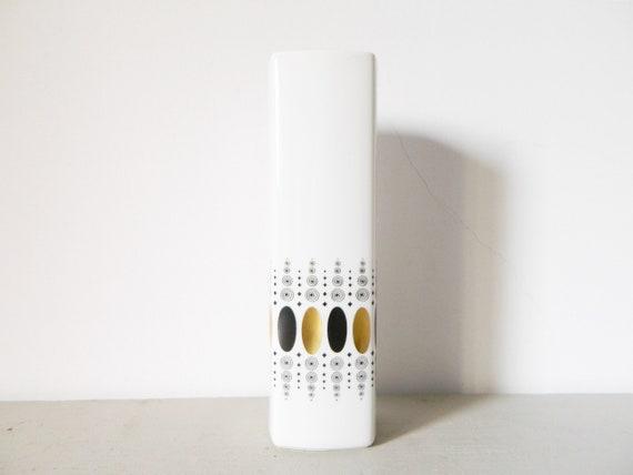 Large vase/vintage vase porcelain/porcelain vase white/Heinrich vase/hand-polished vase/60s vase