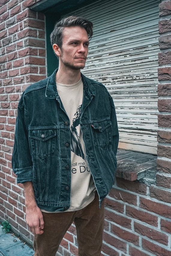 80s Levis jeans Jacket/men's Jacket/men's jeans jacket Black/jeans jacket Xl/levis/men's Jeans jacket levis