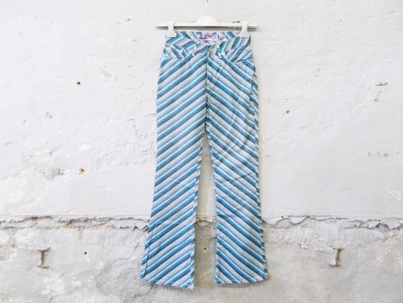 Vintage pants/summer pants/pants striped Take Two Italy/90s jeans