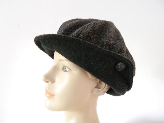 80s hat/vintage hat/Cap Grey Black/1980 's hat