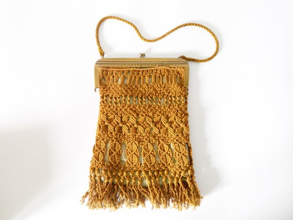 Antique bag 40s / vintage bag / crochet bag / vint
