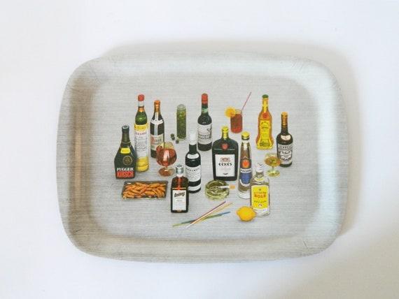 Vintage Tray/60s bar/beard utensils/Vintage tray/1960 's Tray Bar/mid century