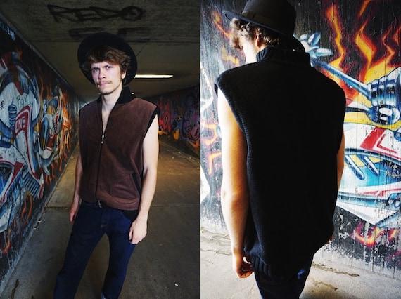 80s vest / 70s men's fashion / vest cord / vintage vest brown / knitted vest / vest knitted / 80s vest