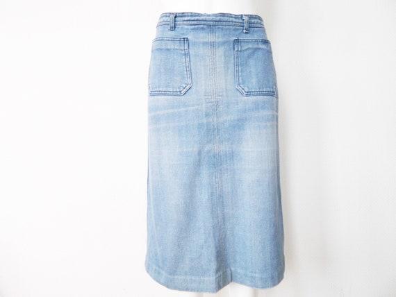 Seventies skirt/Vintage jeans skirt/70s denim skirt, rock blue/vintage denim skirt