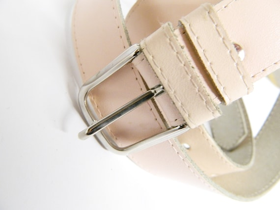 Vintage Lederg\u00fcrtel rosa breit 90er Jahre Damen Lederg\u00fcrtel H\u00fcftg\u00fcrtel