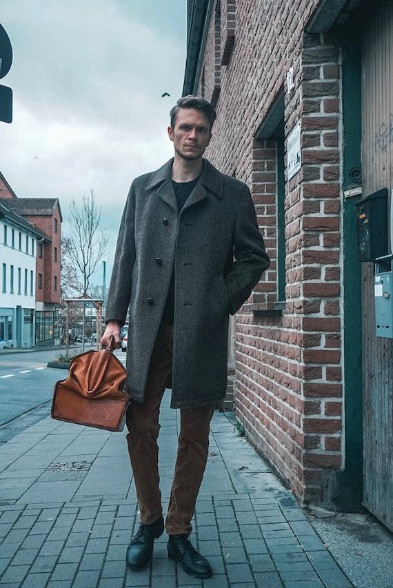 Brown coat / vintage coat / vintage coat / men's c