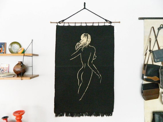 Tapestry mid century/carpet 50s/Wall carpet/vintage carpet/Pin up/mid century carpet