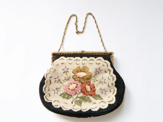 Tapestry bag/Tapestry bag/vintage bag, evening bag/40s bag/1940 's bag/bag embroidered/small handbag