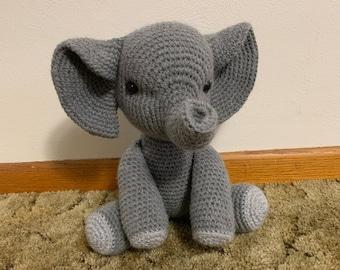 Elephant-Crochet-Amigurumi-Crochet Elephant-Crochet Animal-Stuffed Animal- Stuffed Elephant-Elephant Stuffed Animal-Handmade Animal 912095438