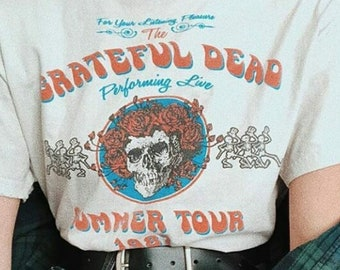 a43e7c0e Grateful Dead Summer tour 1987 T-shirt, Grateful Dead T-shirt,Grateful Dead  tour tee