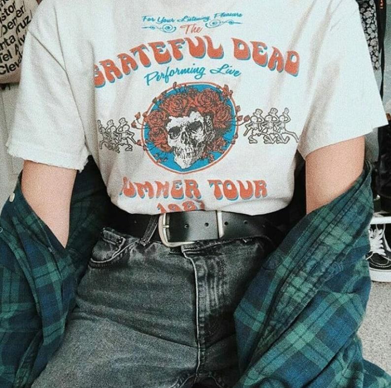 0b857bdd99da Grateful Dead Summer tour 1987 T-shirt Grateful Dead