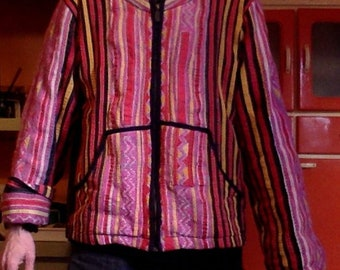 Amazing Vintage Hmong Tribal Ethnic Men/'s  Unisex Embroidered CoatJacket
