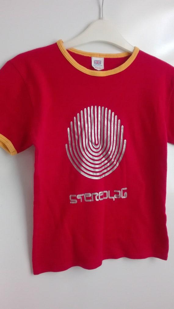 STEREOLAB original VINTAGE 1995 ring t- shirt. no
