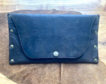 Handmade large leather wallet/pouch [one-of-a-kind]