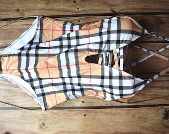 a4375af70f Designer inspired monogram swimsuit, one piece swimwear 20B361