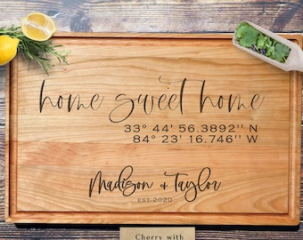 New Home GiftPersonalized Cutting BoardCustom Cutting BoardWedding GiftHousewarming GiftChristmas GiftChristmas Gift