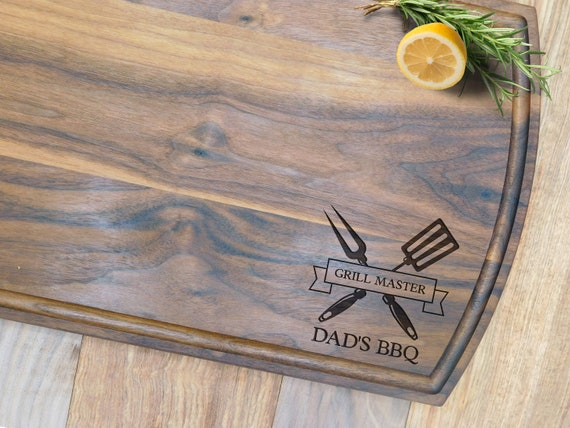 Custom Cutting Board -21040-CUTB-003 Dad Father/'s Day Retirement Fishing Fish Gifts for Him Cherry Wood Personalized Cutting Board