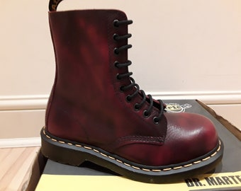 Dr Martens Dark Red soft leather 1919z SIZE 4