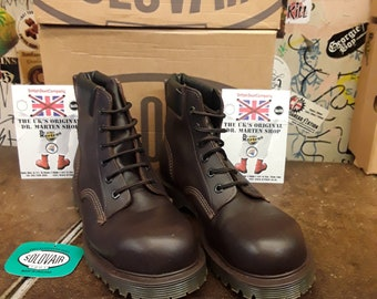 SOLOVAIR SV12 Brown Steel Boot 6 Hole Size 9