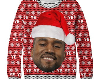 unique muse kanye west christmas all over sweater