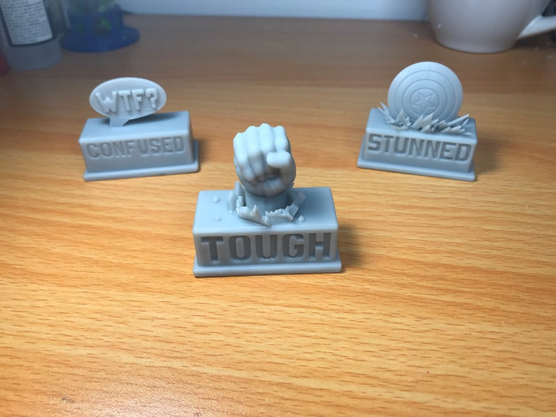 Marvel Champions LCG 3D-Printed Status Tokens set of 3 image 0