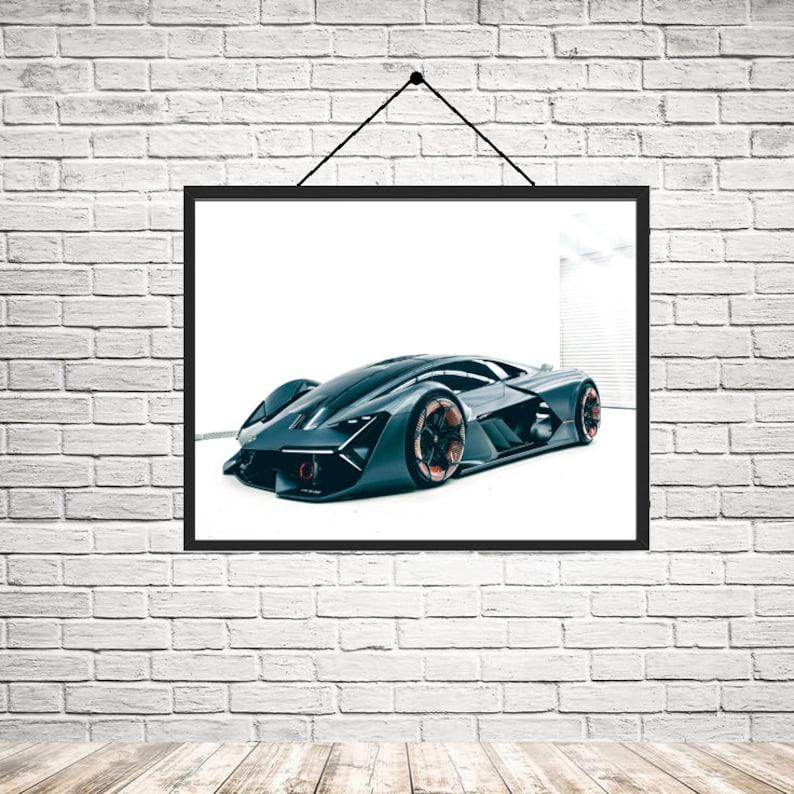 Lamborghini Terzo Millennio Supercar Landscape Home Decoration Etsy