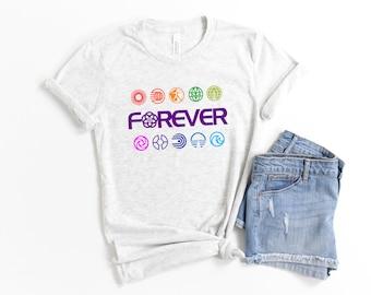 Epcot Forever Adult Youth Unisex T-Shirt | Disney World | Retro Disney | Vintage Epcot | Disney 50th Anniversary | Harmonious