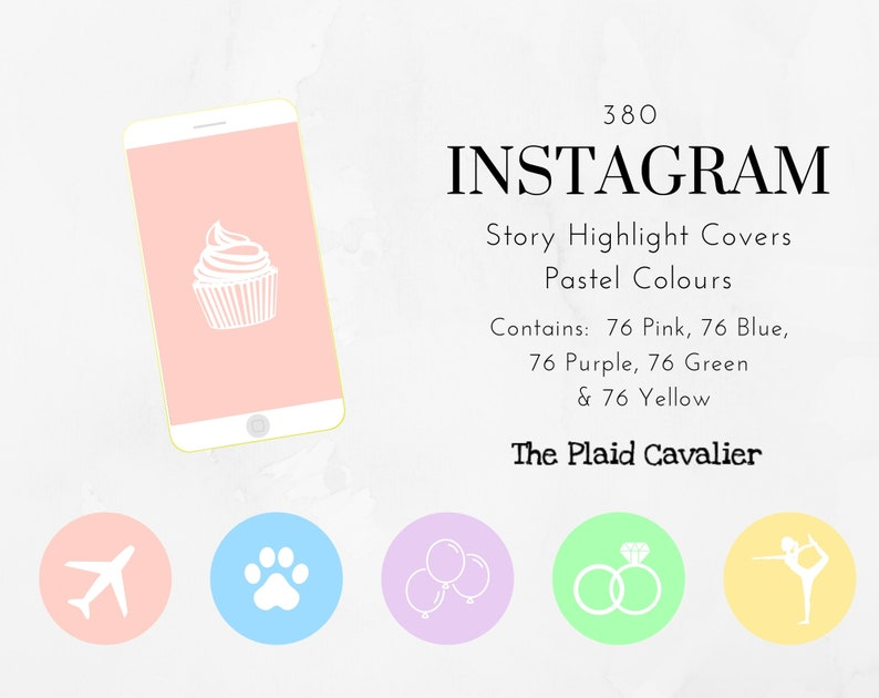 Instagram Highlight Covers | Pastel Colours | Instant Download | Pre-made