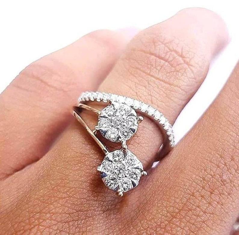 8ca6b1f0ab6dd 1.03 Carat Round Brilliant Diamond Ring 18K White Gold//Handmade Diamond  Ring Platinum//Diamond Engagement Ring
