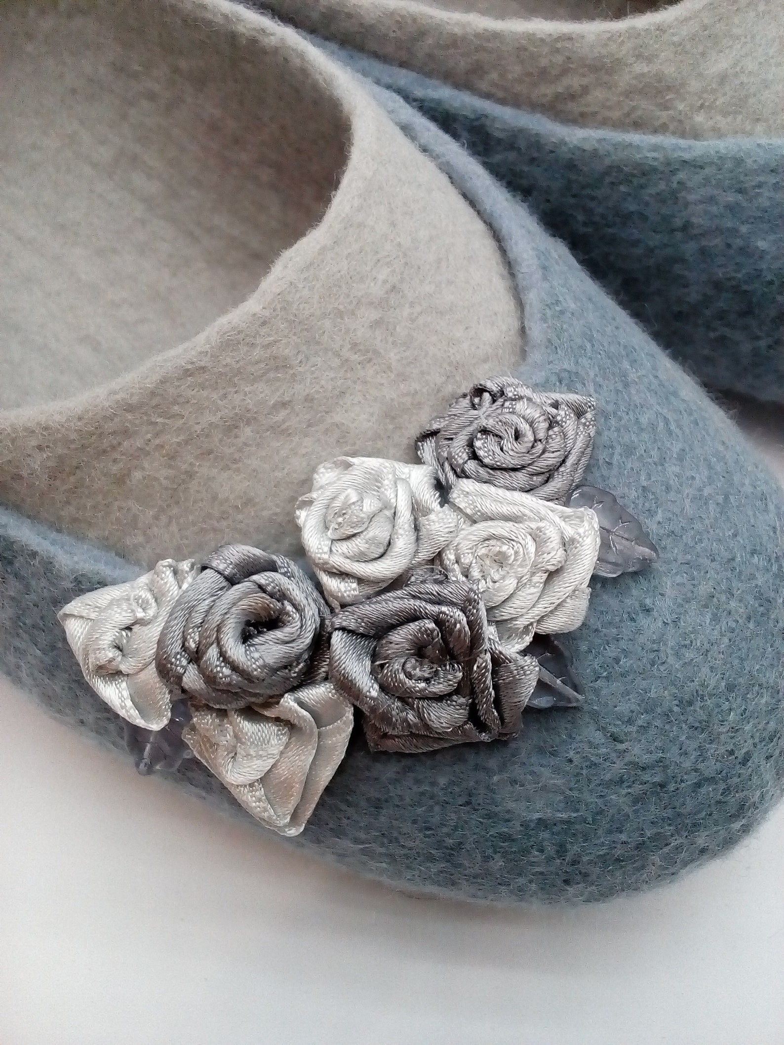 gray slippers-ballet shoes, women's slippers made of natural wool, warm woolen slippers, women home shoes