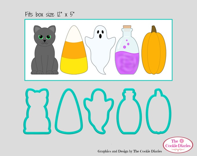 Tall Halloween Cookie Cutter Set