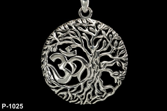 Solid Sterling Silver Celtic Knot Tree of Life YGGDRASIL Dangle Earrings 925