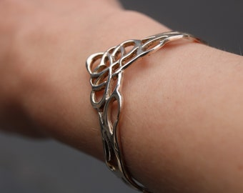 Children's 925 Sterling Silver Celtic Infinity Knot Cuff Bracelet (B-1003)