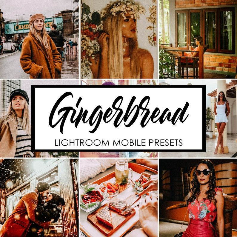 Gingerbread preset Lightroom mobile presets Warm preset Presets for  instagram blogger Travel preset Indoor presets Outdoor presets Lr preset