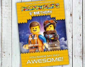 Lego Movie Thank You Etsy