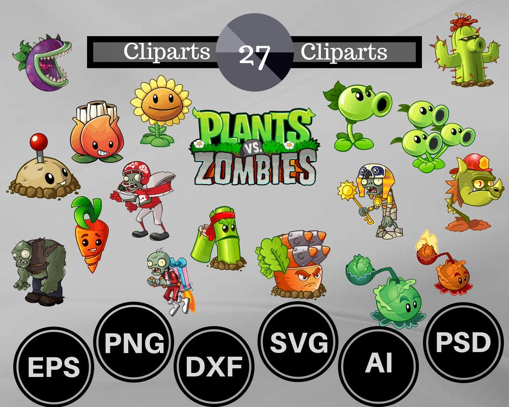 27 plants vs zombies clipart plants svg zombies svg plants clipart zombies clipart plants printable zombies printable plants sticker