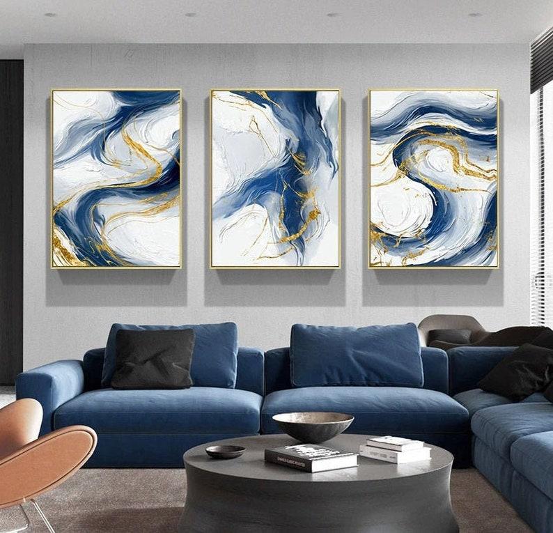 Multi-Color Abstract Art 3 Panel Prints Set