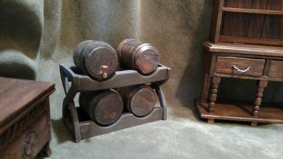 1:12 SCALA Barile Di Legno Casa delle Bambole Accessorio Giardino Mobili in miniatura