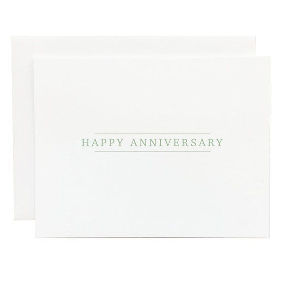 Happy Anniversary Card  Celebrate Marriage  Long Lasting Love  Blank Cards  Note Cards
