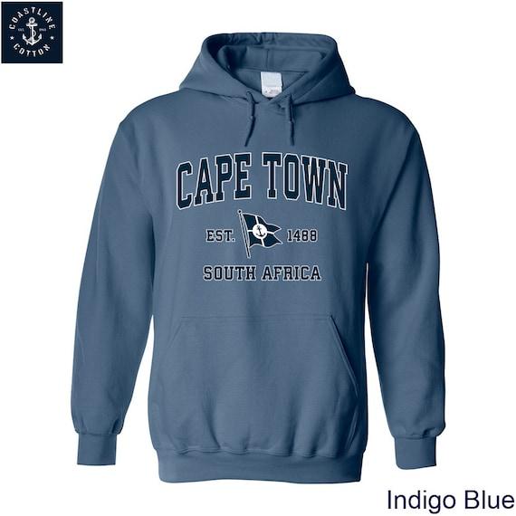 Cape Town Kapstadt Nautische Koordinaten Anker Segler Sweatshirt