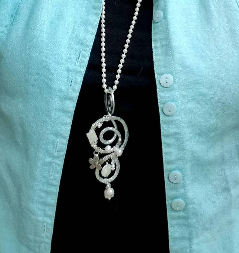 Boho Pendant Necklace Pearl Pendant Necklace Necklaces for Women