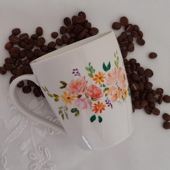 Hand Painted Mug Ceramic Coffee Mug Coffee Mug Tea Mug Etsy