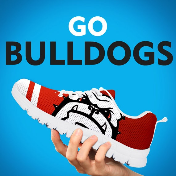 Bulldogs Custom Trainers Running Gift Football Kids White Womens Georgia Shoes Collector Mens Sneakers Black Gift Sizes Gift gdqnBC