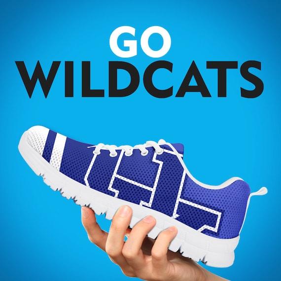 Kentucky personnalis Wildcats noir formateurs chaussures baskets blanc cadeau r0rxpBq7n