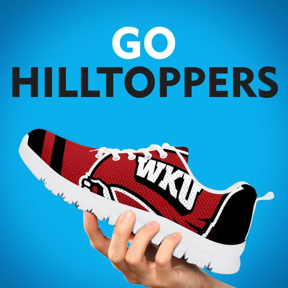 Gift Sneakers Sizes WKU Team Trainers Shoes Black Sports Womens Custom Collector Hilltoppers White Running Gift Gift Kids Mens 8TrqtT