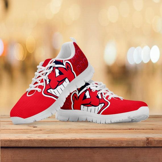 formateurs cadeau personnalis Cleveland chaussures Indians baskets Y0wnfYtUq